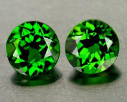 4.50 mm Round 2 pcs Chrome Green Diopside [VVS}