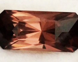 Luminous Apricot Color 4.43 ct Designer Cut Tourmaline - Nigeria G608