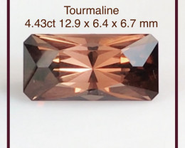 Copper Orange 4.43 ct Precision  Cut Tourmaline - Nigeria G608