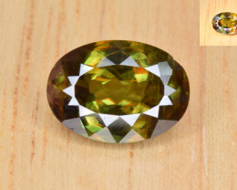 Natural Color Changing Chrome Sphene 3.18 Cts from Skardu, Pakistan
