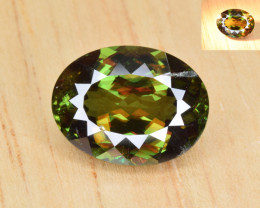 Natural Color Changing Chrome Sphene 3.40 Cts from Skardu, Pakistan