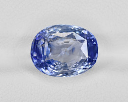 Blue Sapphire, 7.08ct - Mined in Kashmir | Certified by GRS