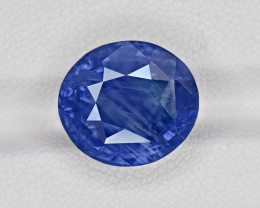 Blue Sapphire, 13.09ct - Mined in Sri Lanka | Certified by GIA & GRS