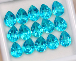 19.10ct Paraiba Color Topaz Pear Cut Lot D12