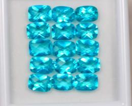 16.26ct Paraiba Color Topaz Octagon Cut Lot D14