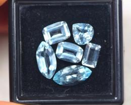 4.23ct Blue Aquamarine Mixed Cut Lot D15