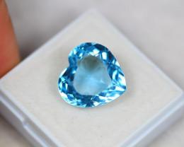 10.83Ct Blue Topaz Heart Cut Lot Z300