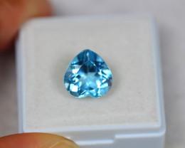 4.67Ct Blue Topaz Heart Cut Lot Z301