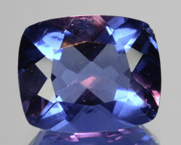 4.62 Cts Natural Color Change Fluorite 11x9 mm Cushion Cut Afghanistan