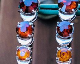 65.44CTSPHALERITE EARRINGS-MULTICOLOUR- RARE AND INCREDIBLY BEAUTIFU
