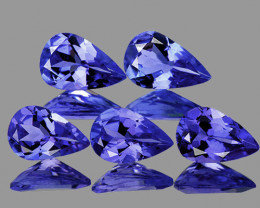 5x3 mm Pear 5 pcs 1.02cts Purple Blue Tanzanite [VVS]