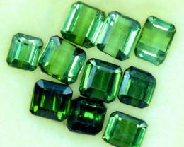 10.25 CT Top Grade Emerald Green Color Natural Tourmaline 10 PCS LOTT