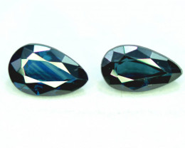 2.35 CT BI-Color Parti Sapphire Gemstone Pair