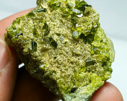 Lovely damage free Epidote cluster have good luster 185Cts-Afghan