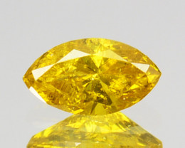 0.17 Cts Natural Golden Yellow Diamond Marquise Cut Africa