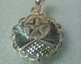faceted pendent ~ ~ fantasy silver designs 13.50cts