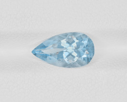 Aquamarine, 1.58ct - Mined in India | Certified by IGI