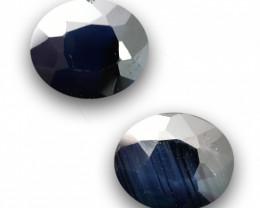 Natural Blue Sapphire Pair |Loose Gemstone|New| Sri Lanka