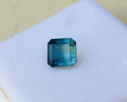 1.70  Carats Natural Tourmaline Blue Bi Color Ring Size Cut Stone
