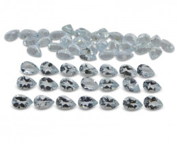 17.49 ct Aquamarine Pear Wholesale Lot - $1 No Reserve Auction