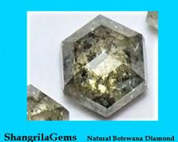 RESERVED FOR CUSTOMER 4.6mm diamond Champagne Salt Pepper hexagon 0.5ct app