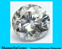 One 3.75mm Salt Pepper Brilliant cut diamond 0.22cts approx
