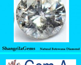 One 3.75mm Salt Pepper Brilliant cut diamond 0.22cts approx