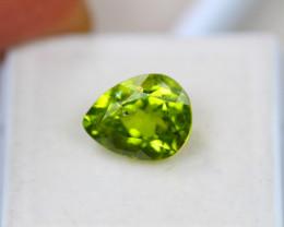 4.16ct Natural Green Peridot Pear Cut Lot V4471