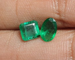Super Pair Green Natural Emeralds*