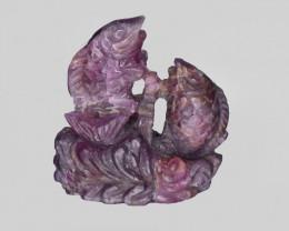 Ruby, 87.40ct - Mined in Sierra Leone | Certified by GII