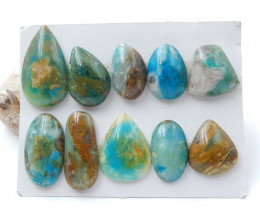 210cts  Blue Opal Cabochons, October Birthstone, Blue Opal Beads D2