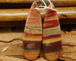 Red river jasper earring bead (G0559)