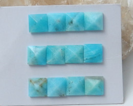 45cts Amazonite pyramid Gemstone Cabochons,Cabochons, Polished Gem D4