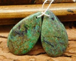 Chrysocolla earring bead (G0561)
