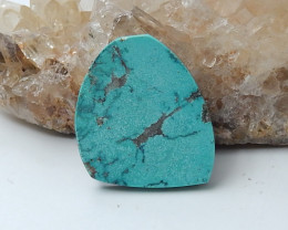 Beautiful Turquoise And Obsidian Intarsia Cabochon,Handmade Gemstone D15