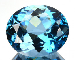4.84 Cts Natural London Blue Topaz Oval Cut Brazil
