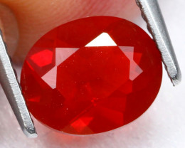 Fire Opal 1.14Ct Natural Vivid Red Mexican Fire Opal C0111