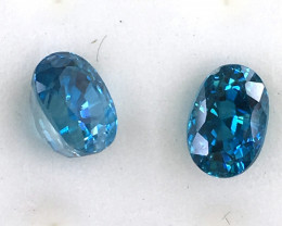 GIA Certified Greenish Blue Zircon 2 Stones      JC