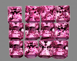 2.30 mm Square 12 pcs 1.02cts Pink Sapphire [VVS]