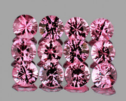 2.50 mm Round Machine Cut 12 pcs Pink Sapphire [VVS]