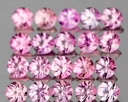 2.00 mm Round 20 pcs Soft Pink Sapphire [VVS]