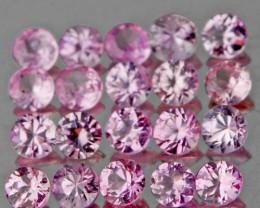 1.20 mm Round 90 pcs Pink Sapphire [VVS]