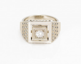 14 kt Solid Gold  Ring 0.50 ct Diamond - New Jewelry