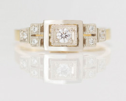 14 kt Gold Ring 0.15 ct Diamond - Diamond - New Jewelry