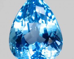 28.47  ct. 100%  Natural Top Sky Blue Topaz Brazil