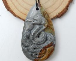 Carved US Biggs Picture Jasper Pendant ,Animal Pendant,Wholesale D41