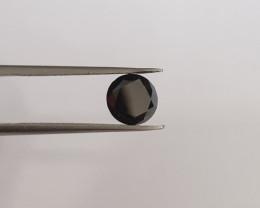 Cert. 1.44ct 6.6mm Black diamond brilliant cut #bd5