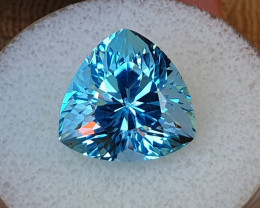 14,45ct Swiss blue Topaz - Master cut!