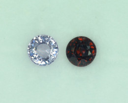 1.31 Cts Stunning Lustrous Burmese Spinel Pair