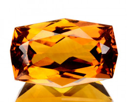 6.10 Cts Natural Golden Orange Citrine Fancy Cushion Cut Brazil